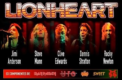 Lionheart, con Dennis Sratton, actuará en Madrid, Castellón y Zaragoza