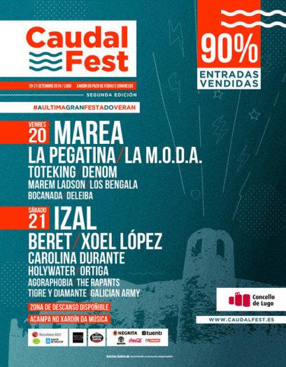 Llega el Caudal Fest de Lugo, la última fiesta del verano