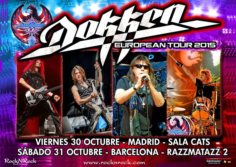 Conciertos de Dokken en Madrid y Barcelona