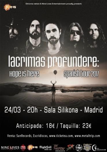 Lacrimas Profundere Madrid cartel