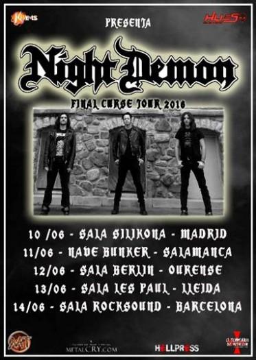 Night Demon catel 2016