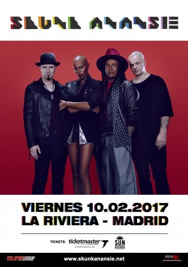 SKUNK_ANANSIE_Cartel_Madrid