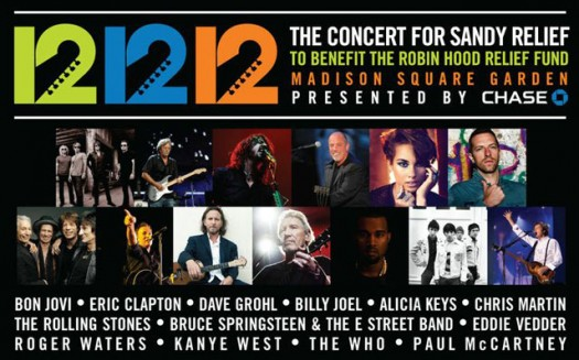 The Concert for Sandy Relief videos