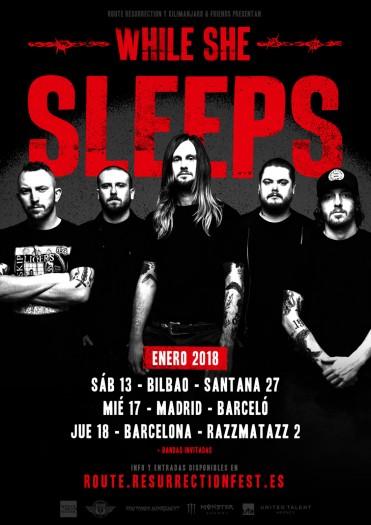 While She Sleeps cartel 2018