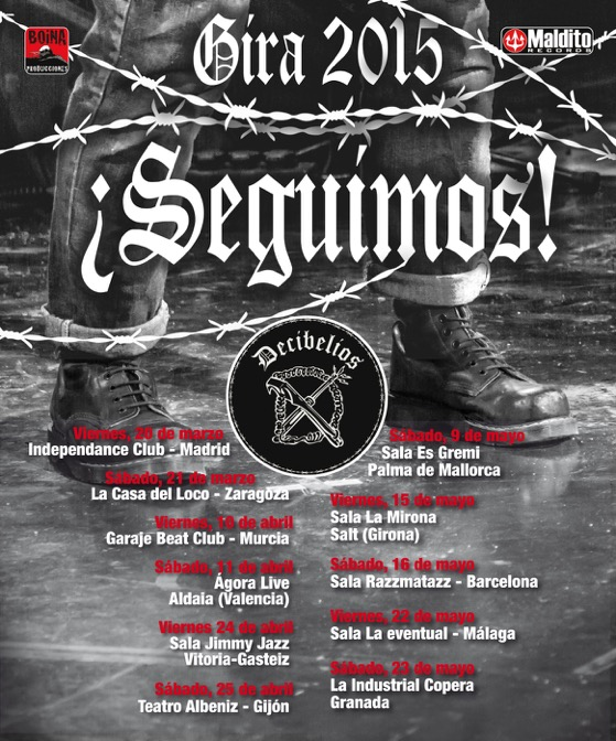 Decibelios anuncia una nueva gira en 2015