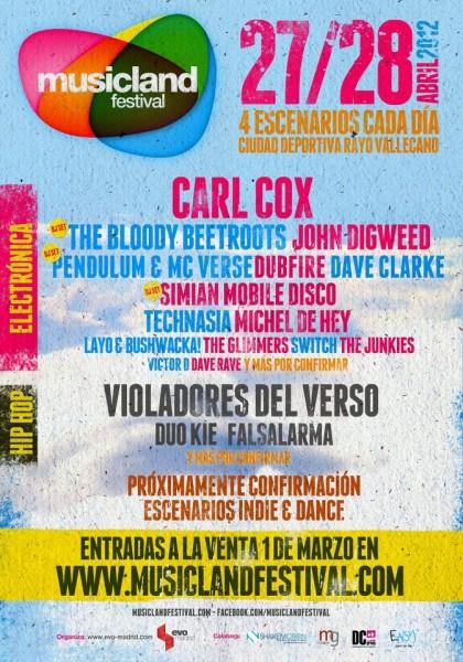 Cartel Festival MusicLand de Madrid 2012