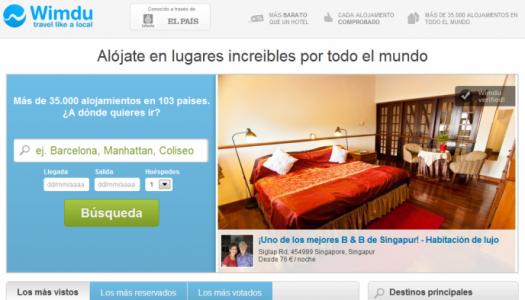 Wimdu, web dedicada alquiler de habitaciones y apartamentos de vacaciones por todo el mundo.